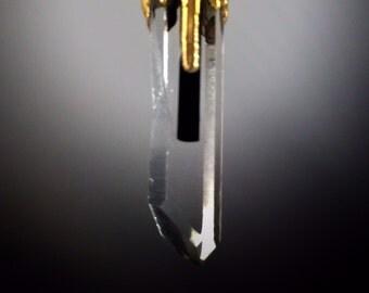 Quartz Aquamarine Tourmaline Pendant