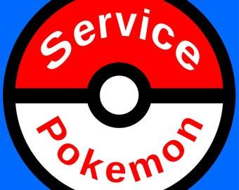 Service Dog Patch, Fandom Service Dog Patch, Geeky dog patch, Pokemon Patch