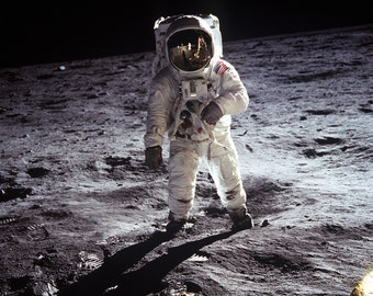 Apollo 11 Astronaut Buzz Aldrin on the Moon - 5X7, 8X10 or 11X14 NASA Photo (EP-321)