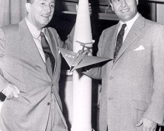 Dr. Wernher Von Braun Meets With Walt Disney at Redstone Arsenal In 1954 - 5X7, 8X10 or 11X14 Photo (EP-001)