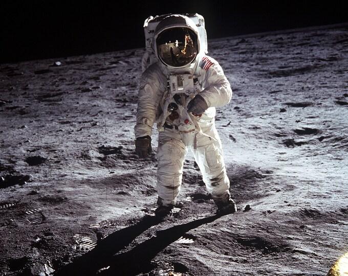 Apollo 11 Astronaut Buzz Aldrin on the Moon - 5X7, 8X10 or 11X14 NASA Photo (EP-321)