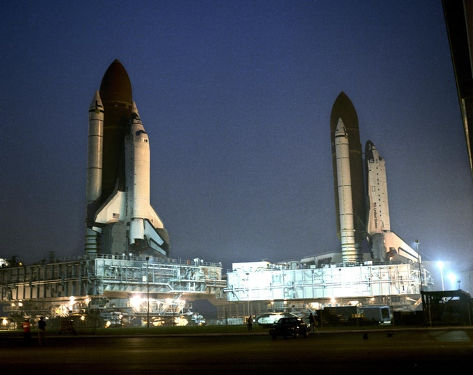 Space Shuttles Atlantis and Columbia Side-by-Side - 5X7, 8X10 or 11X14 NASA Photo (EP-271)