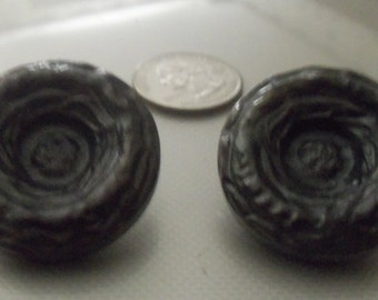Two Large Casein Coat Buttons
