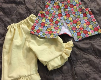 6-9 month ruffled pant and top