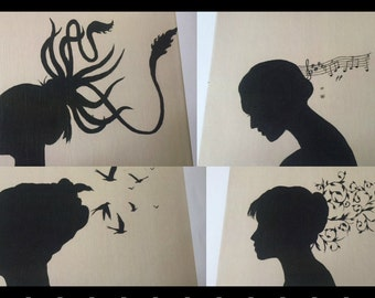 "Silhouette Prints 8""x10"""