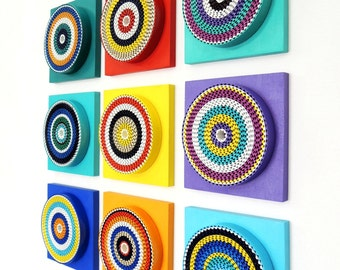Rainbow - Abstract Wall Installation -Geometric- 3D Art - Modern Wall Art - Home Decor - Contemporary - Wall Accent - AV08
