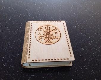 Wooden tarot card holder