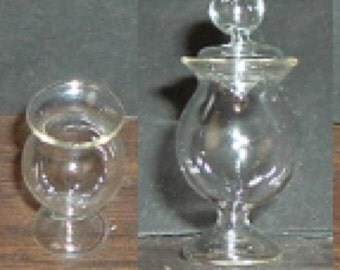 Miniature COVERED Glass CANDY BOWL