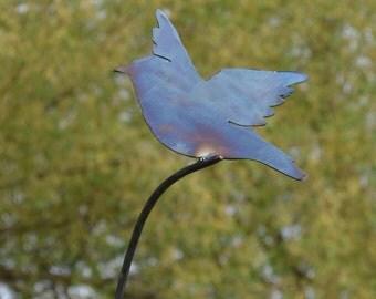 Flying Bluebird Garden Stake
