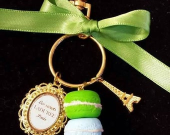 Bag Charms Macarones Blue