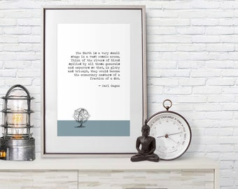 Carl Sagan Quote - Poster Print - Dot