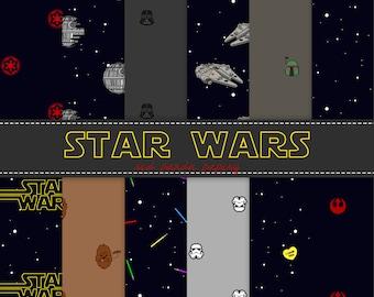Star Wars Digital Papers, Lightsabers, Stormtroopers, Printable Download, Grey, Black, Dark, Blue, Instant Download, Commercial Use