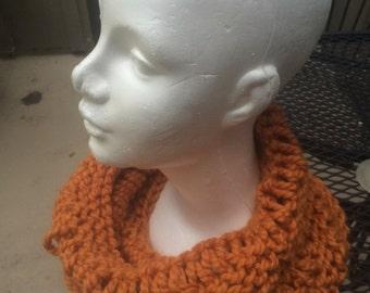 Open Stitch Cowl in Pumpkin