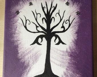 LOTR White Tree of Gondor Painting