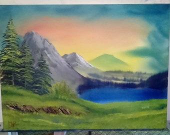 "Oil Painting Landscape Original - Pastel Skies - 18""x24"""