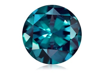 0.54-0.87 Cts of 5x5 mm AAA Round Russian Lab Created Alexandrite ( 1 pc ) Loose Gemstone-369369