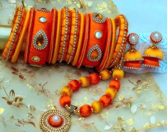 Silk Thread Jewelry Sets