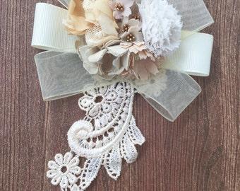 Fleur collection, large bouquet brooch
