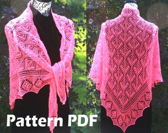 Princess Astrid I Shawl Estonian Lace Shawl Pattern Lace Knitting PATTERN PDF, Knitted Shawl Tutorial, Lace Shawl Pattern, Instant download
