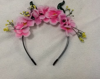 Cherry blossom flower crown/garland/tiara