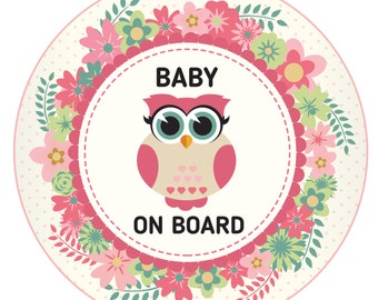 Baby on Board decal / baby on board sticker