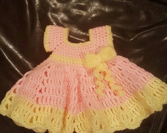 Crochet Dress with Bow