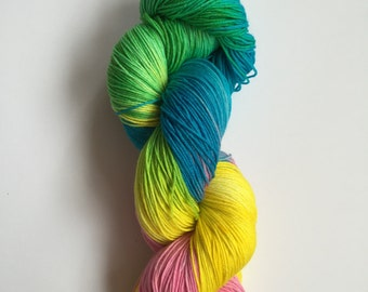 Amazon Rainforest Hand Dyed Sock Yarn 100g DYED TO ORDER