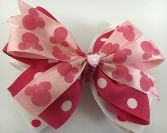 Pink Polka Dots Hair Clip