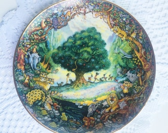 "1980s Limited Edition ""Paradise"" painted by Bill Bell ~Franklin Mint Heirloom Collective Plate"