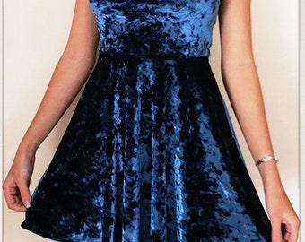 Blue velvet TopShop dress