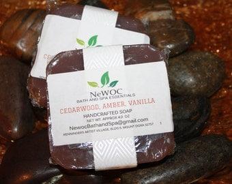 Handmade Soap - Cedarwood, Amber & Vanilla