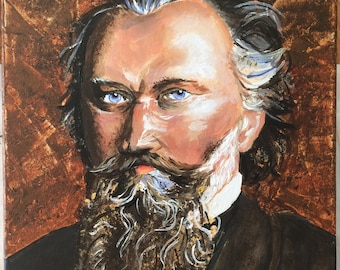 Brahms Classical Composer Painting