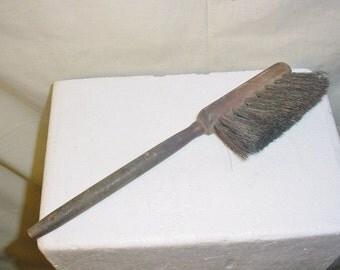 Old Natural Bristle Brush Turned Wood Handle Old Patina Antique Vintage