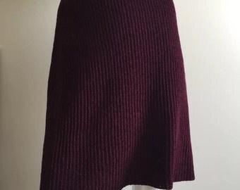 Sonya Rykiel Dark Purple Mini Skirt Size Small