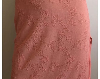 NWOT Herve Leger Paris Lace Skirt with Side Slit Coral Size 2