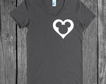 DISNEY SVG & png Digital File Download Mickey Head Heart - perfect for a custom Disney Shirt or Disney Onsie