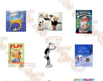 Bookweek Cupcake Toppers - Version #5