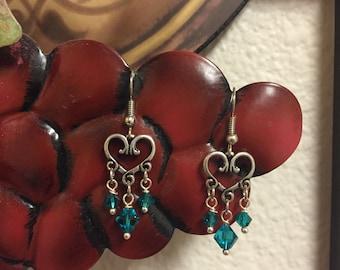 Hearts and Swarovski Crystals