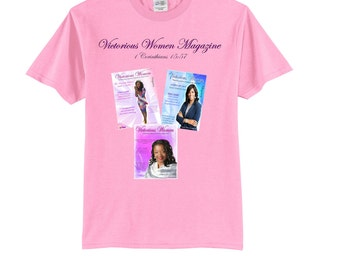 Short Sleeve T-shirt with Magazines (Pink)