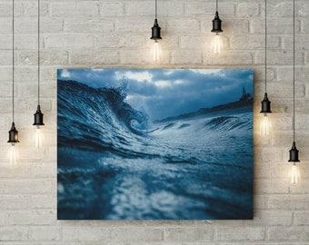 """Wave High Beach Print, Beach Photography, Ocean Art, Beach Home Decor, Wall Art Beach, Coastal Print Sizes- 11""""x17"""" or 24""""x36"""" or 36""""x48"""""""