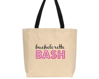Bachelorette Bash - Canvas Bag - with Black Straps