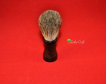 Shaving Brush in African Blackwood - Handmade in UK