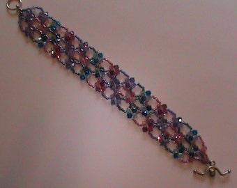 Swarovski Crystal Bracelet with Sterling Silver Clasp