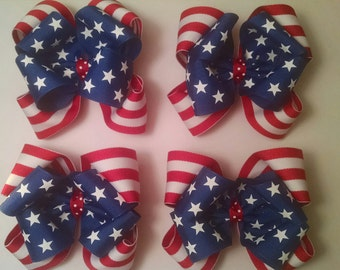 Stars and Stripes Boutique Bow