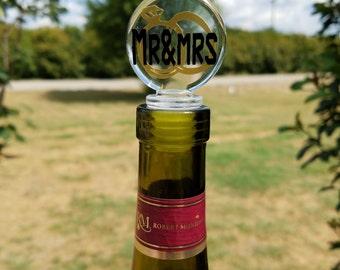 Personalized wine cork wedding