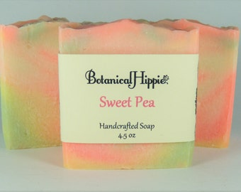 Sweet Pea, Handmade Soap Bar, Handcrafted Soap