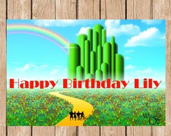 The Wizard of Oz Birthday Vinyl Banner