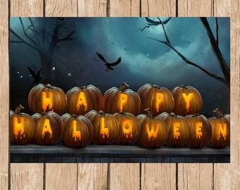 Halloween Vinyl Backdrop