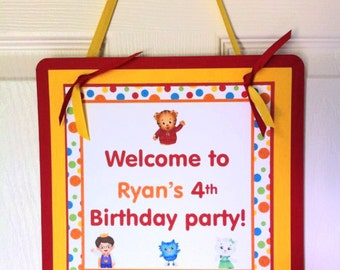 Daniel Tiger Welcome Door Sign