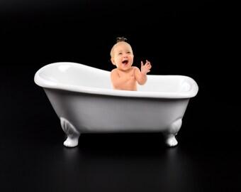 clawfoot baby bath tub. Bathtub  Bath Tub Background White Prop Studio Portrait Photography Digital Backdrop prop Etsy